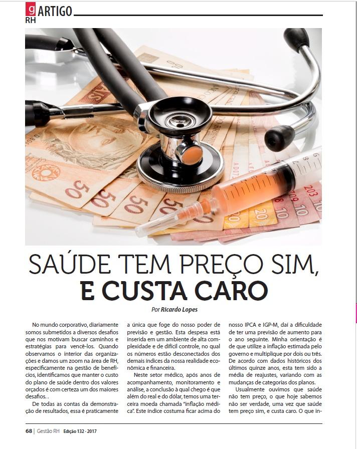 Saúde tem preço sim e custa caro